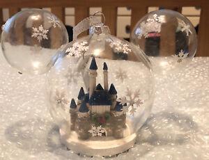Disney Parks Mickey Mouse Castle Christmas Decoration