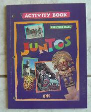 Prentice Hall JUNTOS Uno, Spanish Activity Book NEW! 1997 All clean!