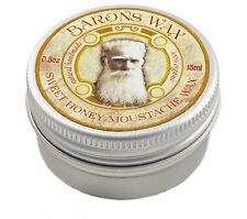 """Sweet Honey"" Moustache wax 15ml 0.5oz ""Barons Wax"" all natural handmade organic"