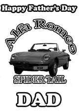 ALFA ROMEO AUTO Felice Padre's Giorno A5 Personalizzata CARD pid366 DAD Grandad passo