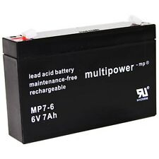 Plomb-Gel Batterie Multi Power 6 V 7ah AGM BGL. 3-fm-7 20hr 3 FM 7 3fm7 Accu Batterie