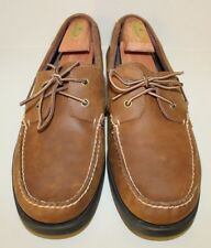 Eastland Eastport Brown Leather Lace Up Oxford Boat Shoes Mens Sz 14 D