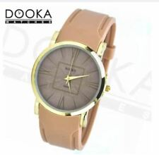 DOOKA Rocky Thin Women's Mocha Silicone Rubber Watch Band T023D