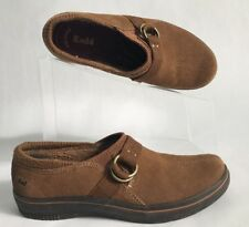 Women's Keds Springysteps WH45902 Brown Suede Leather Slip On's Size 6