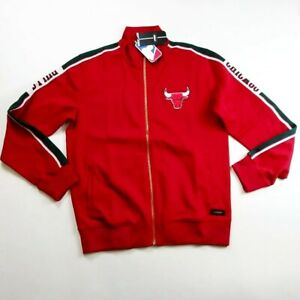 New 100%AUTHENTIC Pro Standard Mens LARGE Chicago bulls Cotton track jacket RED