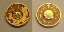 2003 Cook Is. Gold plated Silver w/Gemstones $1 Zodiac- Sagittarius/Topaz