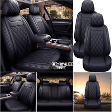 Leather Car Seat Covers Black For Chevrolet Silverado Gmc Sierra 1500 2007 2021
