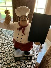 "Vtg The Proud Chef Statue Figurine Display 19"" Tall Top Kitchen/Restaurant"