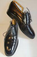 Jones Mens Black Size 9 Barnstaple Leather Smart Shoes inc. Wooden Shoe Trees