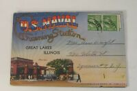 1942 US Navy Naval Military Postcard WWII photos Training Station Great Lakes IL