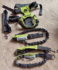 New listing Tuff Mutt Hands Free Bungee Dog Leash For Running, Harness,& Dog Poop Bag Holder