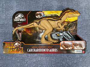 "Mattel Jurassic World Dino Escape Mega Destroyers ""CARCHARODONTOSAURUS"" Figure🔥"