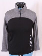 J. America US Army Heathered 1/4 Quarter Zip Athletic Pullover Jacket Women's M