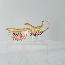 Vintage Hammersley Bone China 'Queen Anne' Chintz Floral Creamer & Sugar