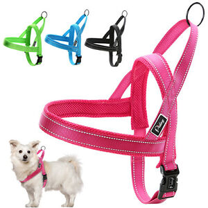 Reflective Stitching Nylon No Pull Pet Dog Harness for Small to Large Dogs