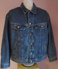 VTG Mens LEE Blue Denim Jacket Size Extra Large  (#M32)