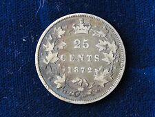 1872 H CANADA .925 SILVER QUARTER BETTER DATE COIN QUEEN VICTORIA HEAD