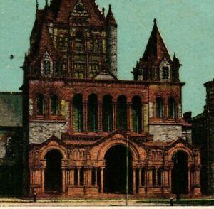 Vintage Postcard - Posted 1912 Trinity Church Boston Massachusetts #8265