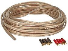 Boxeo cable 4mm² 100/% cobre 30 metros anillo OFC transparente lleno de cobre