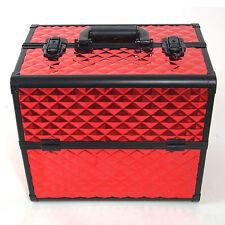 Beauty Case Make Up BS38 XXL Rosso Valigia Cofanetto Porta Gioie Smalti Oggetti