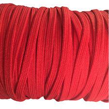 Eloja® 3 Meter Korsett Schnur hochwertig aus Baumwolle 5 mm Breit Rot
