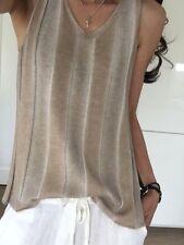 Top Strick Beige Toupe Grau Shirt Neu 34 36 38 S M XS Top