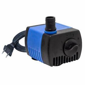 80 GPH Adjustable Submersible Water Pump Hydroponic Pond Fountain Aquarium Power