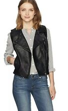 Jack  by BB Dakota  Women's Kenedie Textured Pu Black Moto Vest  NWT Sz M