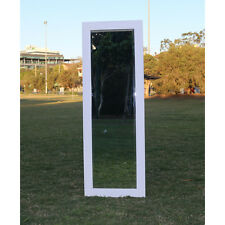 Wooden Europe palace style Embossed Wall Mirror White frame 146CM X 49CM