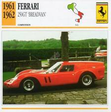 1961-1962 FERRARI 250GT Breadvan Racing Classic Car Photo/Info Maxi Card