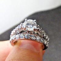 IGI 1.98 ctw Center Round Diamond 14k White Gold Bridal Set F-G I1 Size 5.5
