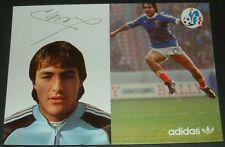 FOOTBALL CPA FRANCE 1982 ESPAÑA 82 ADIDAS FFF LARIOS DEDICACE ASSE VERTS