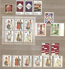 LATVIA / Lettland 1993 Song and dance Festival ;pope ;flags MNH  full year set