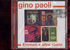 GINO PAOLI-EMMETI E ALTRE STORIE CD NUOVO SIGILLATO