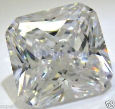 10 x 10 mm 6.00 ct RADIANT Cut Sim Diamond, Lab Diamond WITH LIFETIME WARRANTY