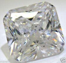 10 x 10 mm 6.00 ct RADIANT Cut Sim Diamond, Lab Diamond WITH LIFETIME WARRANTY