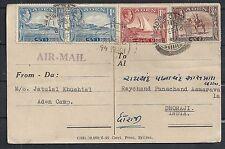 Aden 1946 PC Aden Camp to Dhoraji/India