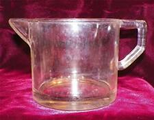 Clear Depression Glass Measuring Cup 1 Pint Vintage NO LINE OR OUNCE MARKINGS