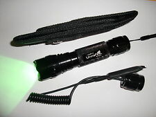 Uwe G60 Cree GREEN LED tactical Flashlight CR123A Remote Pressure Switch