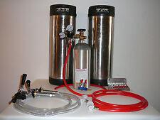 Two Tap Homebrewing Kegerator Conversion Kit  With 2 Pin Lock Corny Kegs