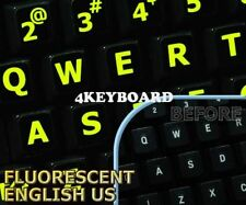 Glowing fluorescent English US (LL) keyboard stickers