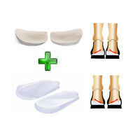 Orthopedic Insoles Shoe Inserts & Lateral Heel Wedge Lift O/X Leg Silicone Pads