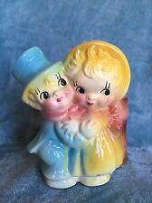 Vintage Wedding Couple Pottery Planter McCoy Shawnee USA Dancing Man Woman Hug