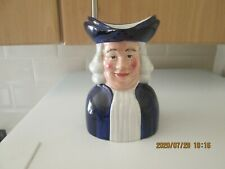 "Wood & Sons Quaker Oats Advertising pottery Toby Jug 6.25"" Excellent Condition"