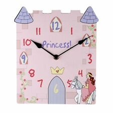 PRINCESS CASTLE PINK WALL CLOCK W6330