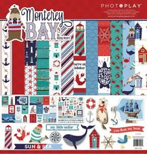 "PhotoPlay Paper ""Monterey Bay"" 12x12 Collection Pack Papers + Stickers Nautical"