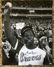 HANK AARON SIGNED AUTO AUTOGRAPHED 15 3/4x 19 1/4 MOUNTED MEMORIES AUTHENTICATED
