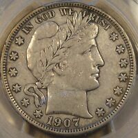1907-S Barber Half Dollar 50c PCGS Certified VF35