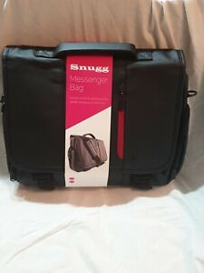 """BLACK Snugg Laptop Messenger Bag For 15.7"""" Laptop/ MacBook."""