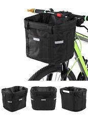 Foldable Bicycle Front Basket Bike Handlebar Basket Pet Carrier Frame Bag X4U1